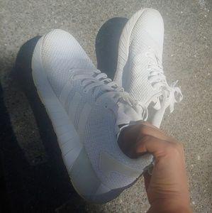 adidas 3 stripes white sneakers